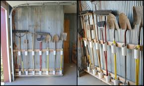 making a pvc yard tool storage