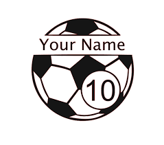 Amazon Com Custom Soccer Vinyl Decal Futbol Bumper Sticker For Tumblers Laptops Car Windows Pick Your Players Name Number Size And Color Handmade