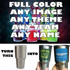 Full Color Custom Decal Sticker For Tumbler Yeti Rtc Ozark Etc For Sale Online