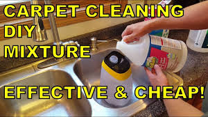 carpet cleaning solution mixture