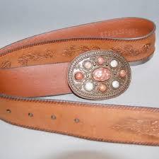 leather belt embellished stones