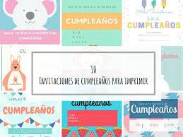 10 Invitaciones De Cumpleanos Para Imprimir Invitaciones De