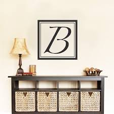 Square Initial Wall Decal Monograms Initial Wall Stickers Trendy Wall Designs