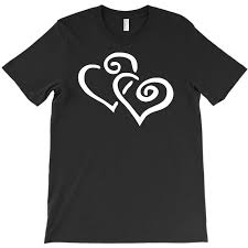 Custom Hearts Sticker Vinyl Decal T Shirt By Mdk Art Artistshot