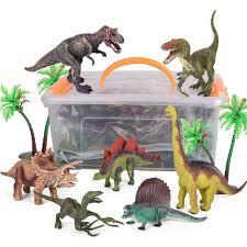 Đồ Chơi Khủng Long Cho Bé Trai Và Bé Gái 3 Tuổi & Up Bộ 9 Động Vật Khủng  Long Nhân Vật Với Thảm Chơi (T REX, triceratops, V. V) 