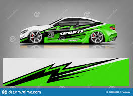 Sport Car Decal Wrap Design Vector Graphic Abstract Stripe Racing Background Kit Designs For Vehicle Stock Vector Illustration Of Motor Automobile 148054045