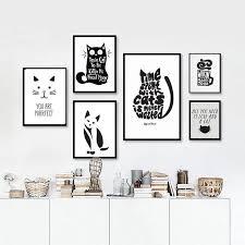 Cute Cat Canvas Wall Art Decor Unframed Freakypet