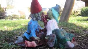 garden gnomes add gore to greenery