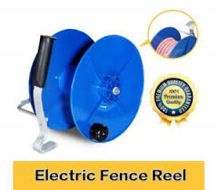 Wind Up Reel Electric Geared Uv Stabilized Fence Reel With Crank Handle Amp Galvanized Hook