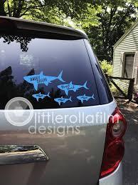 Shark Family Vinyl Decals Custom Shark Decal Mama Shark Etsy