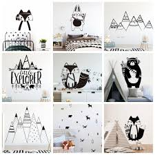 Cartoon Tribal Animals Black White Wall Stickers Gallery Wallrus Free Worldwide Shipping