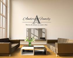 Family Name Vinyl Wall Established Decal Stickers Design Personalized Last And Monogram Vamosrayos