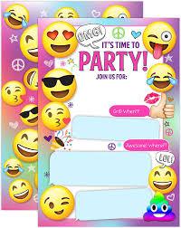 Emoji Invitaciones De Fiesta Nina Emoji Invitaciones De