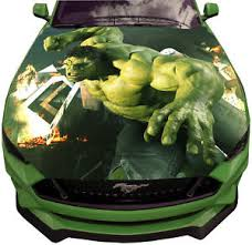 Vinyl Car Hood Wrap Full Color Graphics Decal Angry Strong Hulk Strike Sticker Ebay