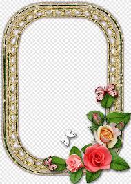 إطارات الرسم زهرة مرآة Ramka إطار الصورة الوردي Png