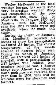 Wesley McDonald [Jr], member of weather bureau, San Juan County, Utah 1952  - Newspapers.com