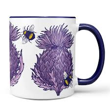 scottish thistle mugs by scottish