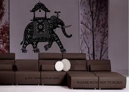 Large Decorated Indian Elephant Wall Decal Wall Art Etsy