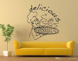 Pizza Restaurant Wall Window Decal Kitchen Food Wall Art Decoration Delicious Pizza Design Wall Stickers Removable Poster Wall Murals Decals Wall Murals Stickers From Joystickers 15 02 Dhgate Com