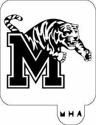 Mr Hair Art Stencil Memphis Tigers Mha 698 Hair Art Memphis Tigers Art