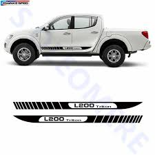 Gradient Stripe Graphic Vinyl Sticker Auto Door Side Skirt Decals For Mitsubishi L200 Triton Pickup Accessories Car Styling Car Stickers Aliexpress