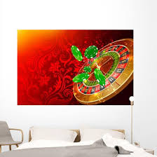 Casino Wheel Roulette Casino Chips And Money Floating Wall Decal Wallmonkeys Com