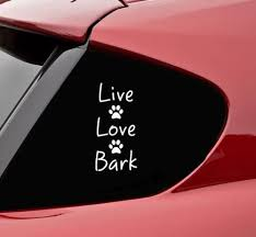 Amazon Com Slap Art Live Love Bark Vinyl Decal Bumper Sticker Automotive