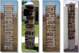 Faux Rock Pillars Privacylink