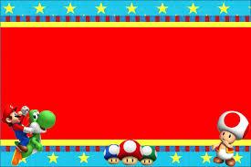 Invitaciones De Cumpleanos De Mario Bros Wallpaper En Hd Gratis
