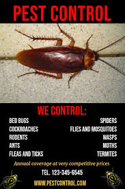 Pest Control Service Poster Template | PosterMyWall