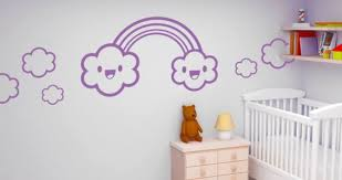 Rainbow And Happy Clouds Wall Decals Dezign With A Z