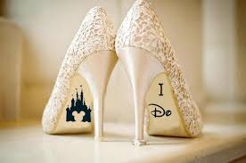 Disney Wedding Shoe Vinyl Sticker Decal With Name Date Decorations Bridal Shoe Bridesmaid I Do Etc 2782845 Weddbook