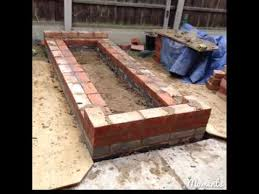 how to build a brick raised bed and