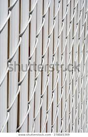 Chain Link Fence Privacy Slats Linked Buildings Landmarks Stock Image 278045369
