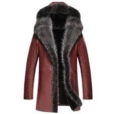 sheepskin jacket men rac fur collar