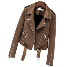 faux suede womens motorcycle jacket
