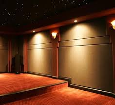 theater room design fabric wall