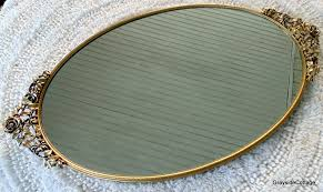 vintage matson oval mirror gold plated