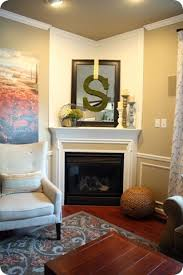 decorate a corner fireplace mantel