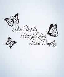 Inspirational Quote Live Simply Laugh Ofter Love Deeply Vinyl Wall Decal Sticker 1166 Wall Quotes Decals Quote Decals Vinyl Wall Quotes