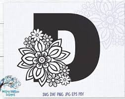 Letter D Decal Etsy
