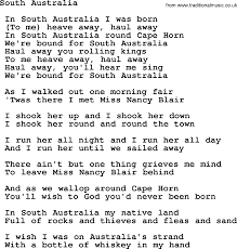 South Australia - Sea Song or Shantie ...