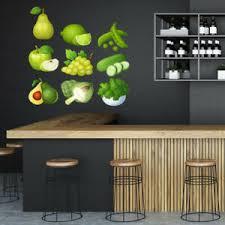 Green Food Fruit Vegetables Wall Decal Sticker Set Ws 47051 Ebay