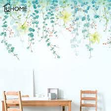 178x58cm Charming Romantic Fresh Green Leaves Wall Sticker For Living Room Kitchen Flower Wall Decal Bedroom Sofa Decoration Art Wall Stickers Aliexpress