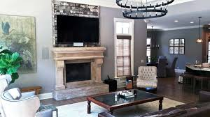 wall above fireplace tv installation