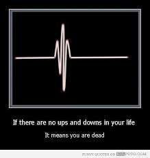 usually you have a choice to create more ups than downs enjoy
