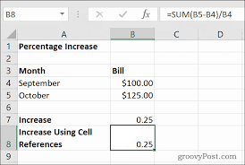 how to calculate percentage increases
