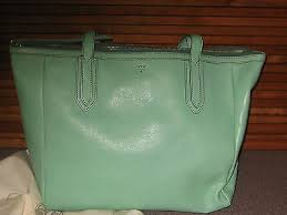 mint green tote bag purse authentic