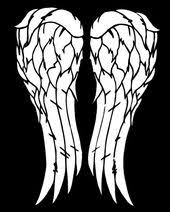 Daryl Dixon Walking Dead Wings Vinyl Car Decal Daryl Dixon Walking Dead Walking Dead Tattoo Walking Dead Wallpaper