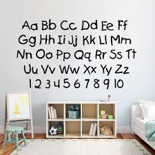 Nursery Wall Stickers English Alphabet And Numbers Wall Decal Home Decoration For Children Room School Classroom Wall Decor Y661 Wall Stickers Aliexpress